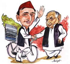 Akhilesh Mulayam cartoon