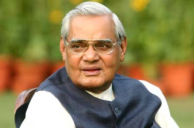 INDIA - MARCH 25: Atal Bihari Vajpayee, Prime Minister of India (Photo by Hemant Chawla/The India Today Group/Getty Images)