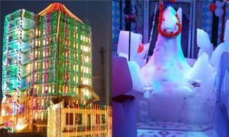 दिल्ली के कारीगरों ने शिव को दिया बाबा बर्फानी का रूप