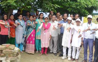 स्वच्छता टीम सीआईटीएस व ग्राम प्रधान स्वच्छता अभियान की भव्य रैली का शुभारम्भ