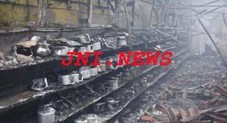 बड़ी खबर:सेना की फतेहगढ़ कैंटीन में भीषण आग,लाखों का सामान जला
