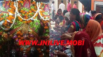 नवरात्र के प्रथम दिन माता के मंदिरों में उमड़ी आस्था